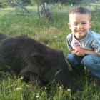 JAKE'S FIRST PIG WITH DAD!
