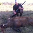 MY BIGGEST PIG YET WITH MY OL' 3030