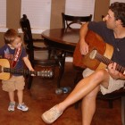 JAKE AND DADDY SINGING SONGS