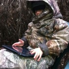 JAKE CHECKING OUT THE GAME CAM PICS ON THE IPAD!