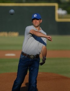 THROWING OUT THE FIRST PITCH BEFORE A SHOW!
