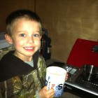 DONT TELL MOMMA THAT JAKE WAS DRINKING DAD'S COFFEE!