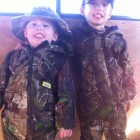 JAKE AND JACK ALL DECKED OUT IN CAMO