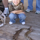 JAKE WITH THE RATTLESNAKE DADDY SHOT W/ HIS BOW