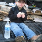 JACK AND A PB&J AFTER A LONG DAY OF FISHING