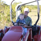 BIG JACK AND HUNTER GOING ON A TRACTOR RIDE