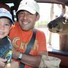 JAKE, DAD AND A RED STAG AT FOSSIL RIM CANYON!