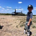 JAKE GETTING READY FOR HIS HELI RIDE!
