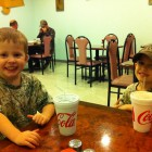 DINNER AFTER A FUN DAY OF HUNTING