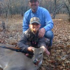 LEIGHTON AND HER DAD JASON WITH HER FIRST DEER!