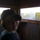 COOPER IN THE BLIND WITH HIS DAD BRANDON
