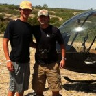 HUNTER AND AARON ON THEIR HELI RIDE!