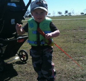 JACK IS READY TO GET THAT HOOK IN THE WATER!